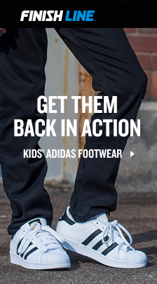 Finish Line, Get Them Back in Action, Kid's Adidas Footwear