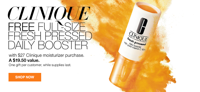 Clinique Free Full-Size Fresh Pressed Daily Booster with $27 Clinique moisturizer purchase, A $19.50 value, Shop now