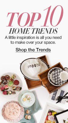 Top 10 Home Trends, a little inspiration is all you need to make over your space, Shop the Trends