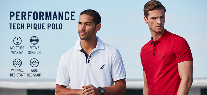 Performance Tech Pique Polo, Moisture Wicking, Active Stretch, Wrinkle Resistant, Fade Resistant