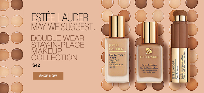 Estee Lauderr, May We Suggest, Double Wear Stay-In-Place Makeup Collection, $42, Shop Now