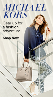 Michael Kors, Gear up for a fashion adventure, Shop Now
