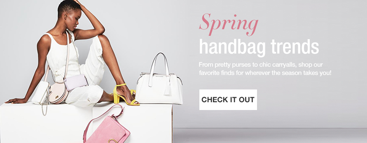 Spring Handbag Trends, From pretty purses to chic carryalls, shop our favorite finds for wherever the season takes you! Check it Out