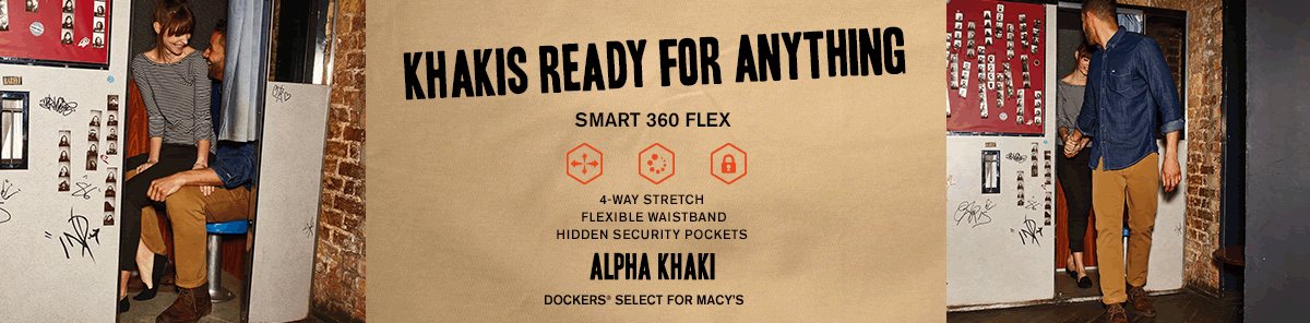 Khakis Ready For Anything, Smart 360 Flex, Alpha Khaki, Dockers, Select For Macy's