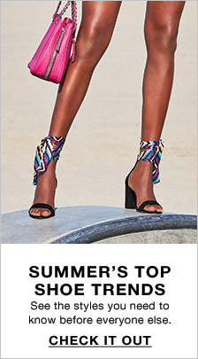 Summer's Top Shoe Trends, Check it Out