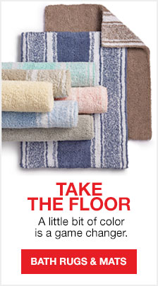 Take The Floor, a little bit of color is a game changer, Bath Rugs and Mats
