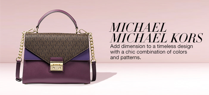 Michael Michael Kors, add dimension to a timeless design with a chic combination of colors and patterns