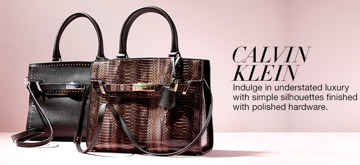 Calvin Klein, Indulge in understated luxury with simple silhouettes finished with polished hardware