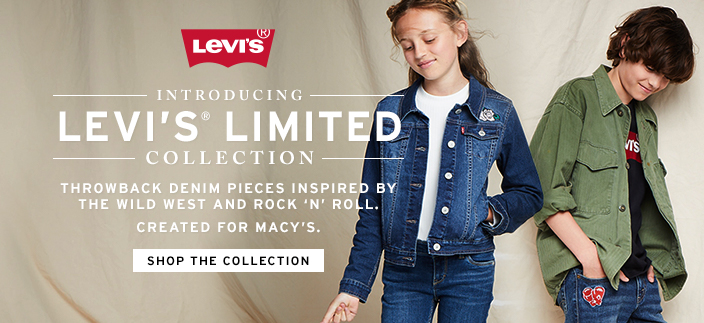 Introducing Levi's Limited Collection, Throwback Denim Pieces Inspired by The Wild West and Rock n Roll Created for Macy's, Shop the Collection