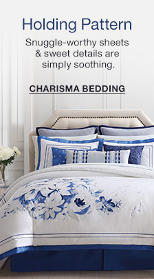 Holding Pattern, Snuggle-worthy sheets and sweet details are simply soothing, Charisma Bedding