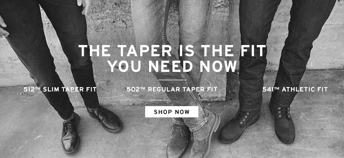 The Taper is the fit you need now, Shop now