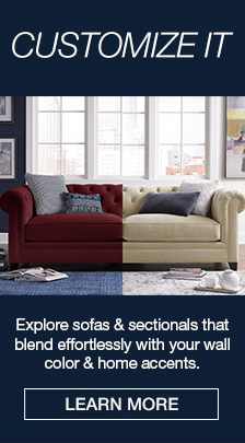 Customize it, Explore sofas and sectionals that blend effortlessly with your wall color and home accents, Learn More