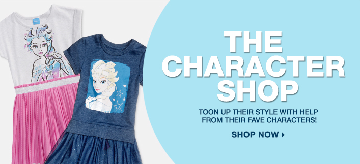 The Character Shop, Toon up Their Style with Help From Their Fave Characters! Shop Now
