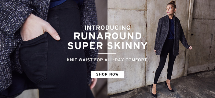 Indroducing Runaround Super Skinny, Knit Waist For All-Day Comfort, Shop now