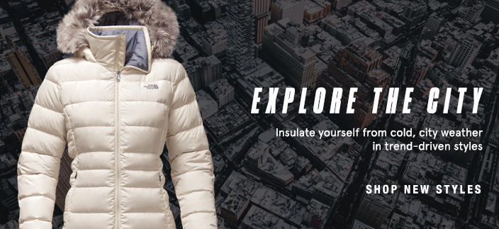 Explore the City, Insulate yourself from cold, city weather in trend-driven styles, Shop new Styles