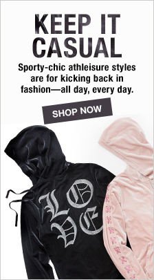 Keep it Casual, Sporty-chic athleisure styles are for kicking back in fashion—all day, every day, Shop now