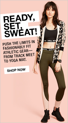 Ready, Set, Sweat! Push the Limits in Fashionably fit Athletic Gear—From Track Meet to Yoga Mat, Shop now
