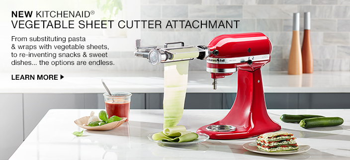 New Kitchenaid, Vegetable Sheet Cutter Attachmant, From substituting pasta and wraps with vegetable sheets, to re-inventing snacks and sweet dishes... the options are endless, Learn More