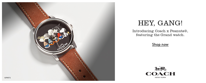 Hey, Gang! Introducing Coach Peanuts featuring the grand watch, Shop now