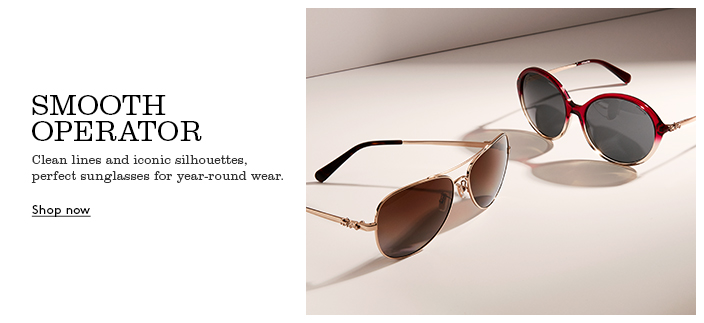 Smooth Operator, Clean lines and iconic silhouettes, perfect sunglasses for year-round wear, Shop now