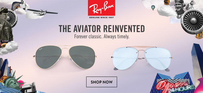 Ray-Ban, Genuine Since 1937, The Aviator Reinvented, Forever classic, Always timely, Shop Now