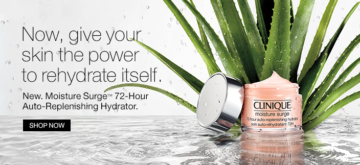 Now give your skin the power to rehydrate itself, New, Moisture Surge 72-Hour Auto-Replenishing Hydrator, Shop now