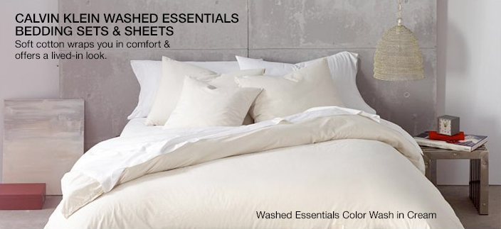 Calvin Klein Wasted Essentials Bedding Sets and Sheets