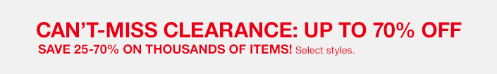 Clearance: Up To 70% Off