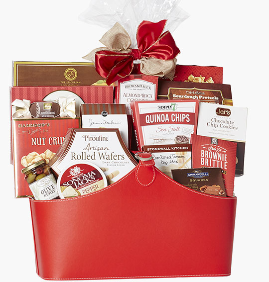 holiday gift baskets and food gift ideas