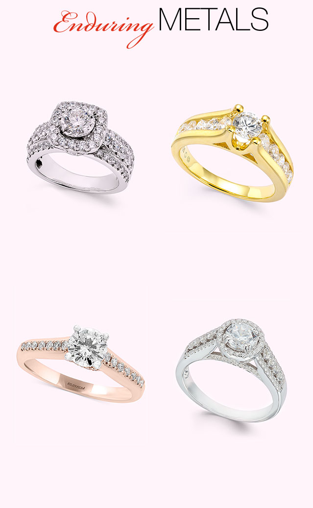 Engagement ring styles trends wedding bands macys ring metals junglespirit Images