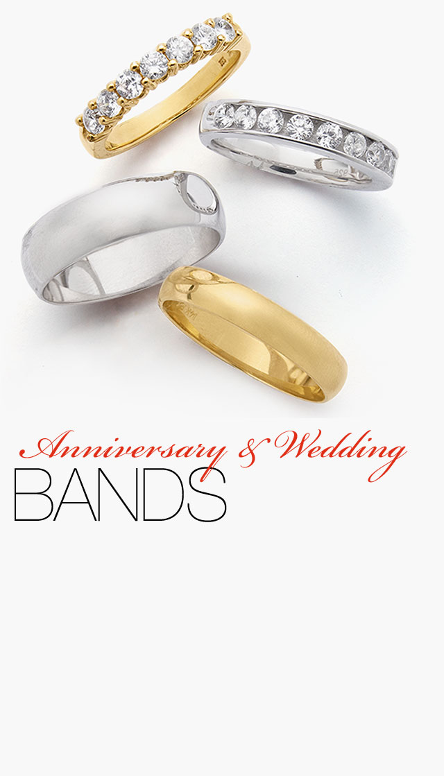 anniversary and wedding bands