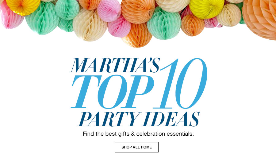 Martha Stewart Wedding Gift Ideas: Top 10 Party & Entertaining Ideas By Martha Stewart