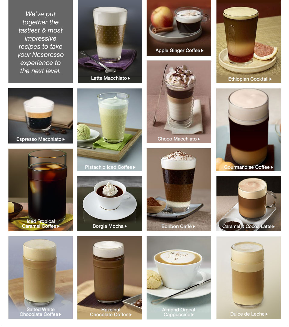 We've put together the tastiest and most impressive recipes to take your Nespresso experience to the next level.