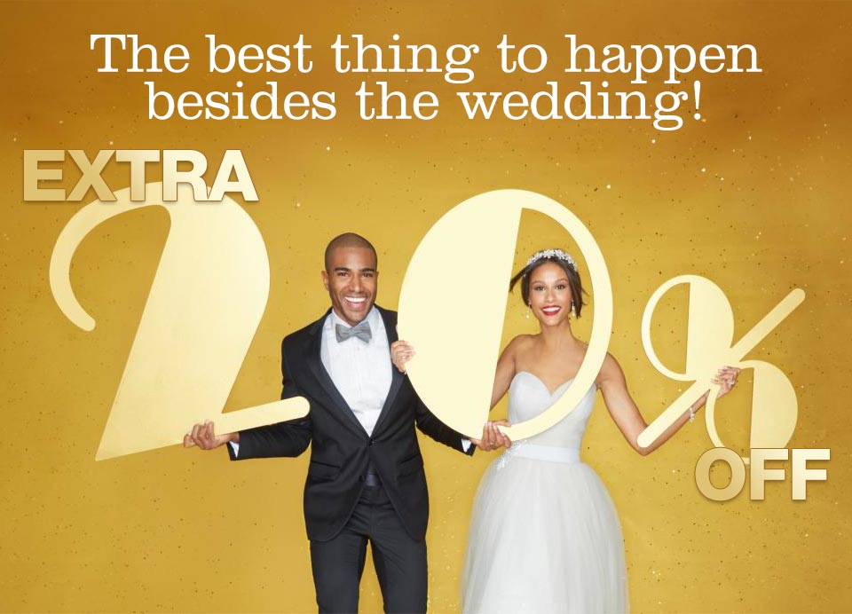 the best thing to happen besides the wedding! extra 20% off