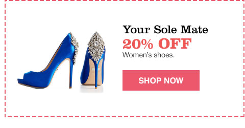 your sole mate 20% off women's shoes.
