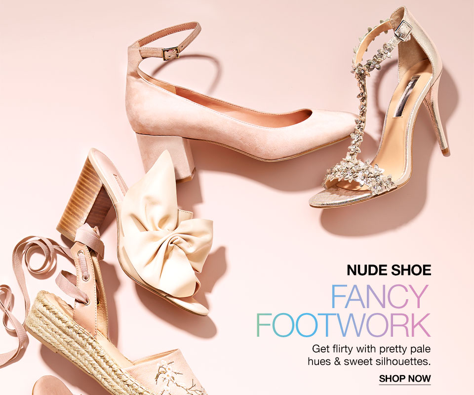 4ac9806e0d8f nude shoe. fancy footwork. get flirty with pretty pale hues and sweet  silhouettes.