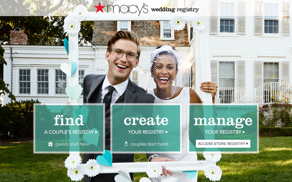Macy's wedding registry.