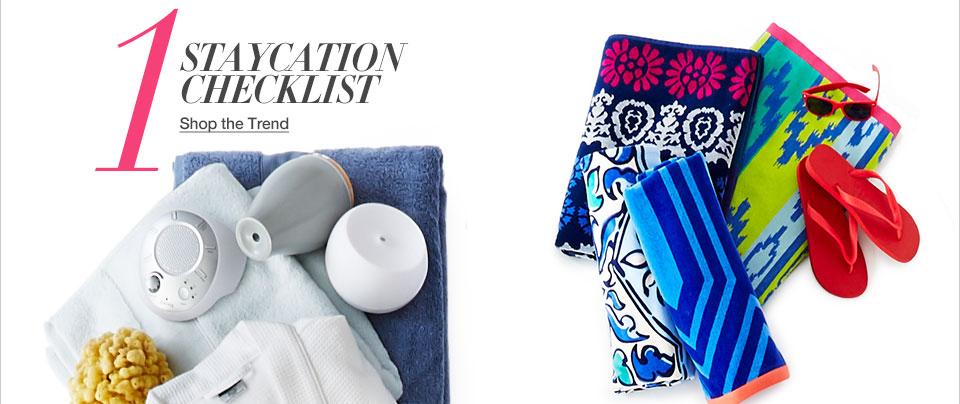 One. Staycation checklist.