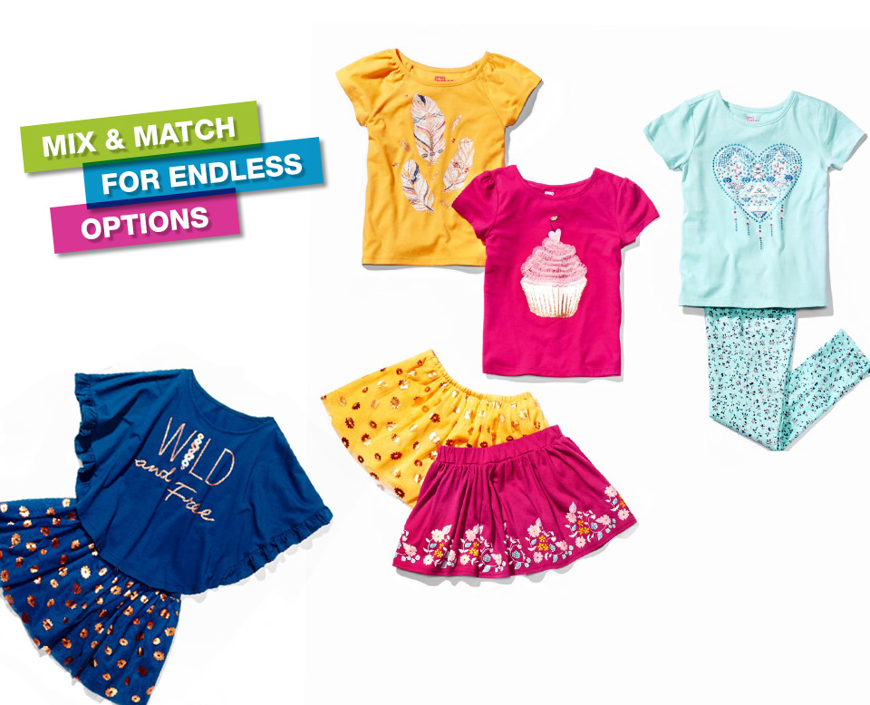mix and match for endless options