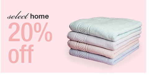 select home, 20 percent off
