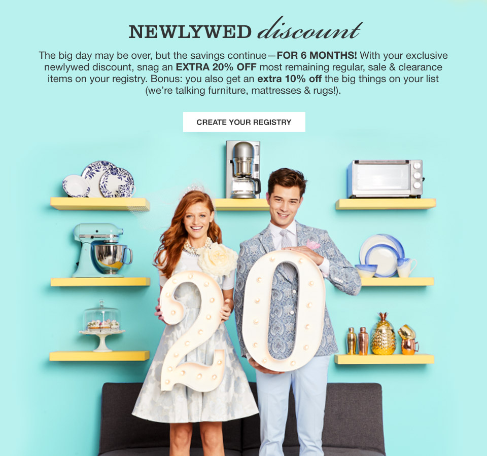 Macy\'s Newlywed Discount