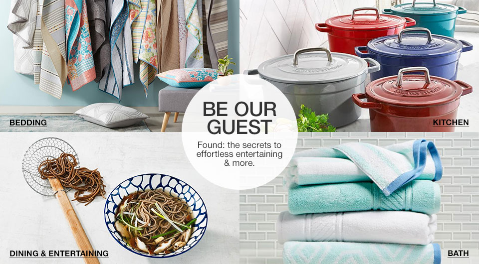 Be our guest Found: the secrets to effortless entertaining and more.