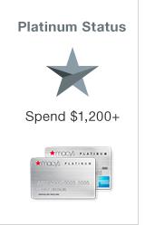 Platinum Status. Spend $1200+