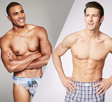 Boxers or briefs. Mens underwear fit and care.