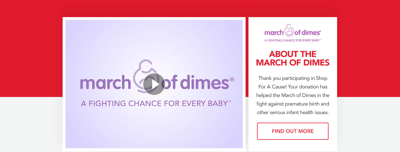 Shop For A Cause For March Of Dimes Macys