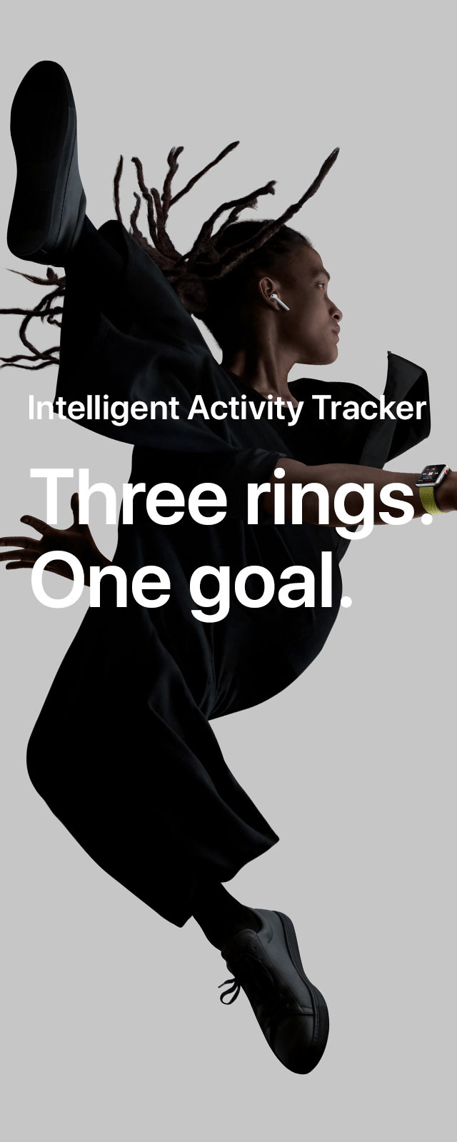 Intelligent activity tracker. Three rings. One goal.