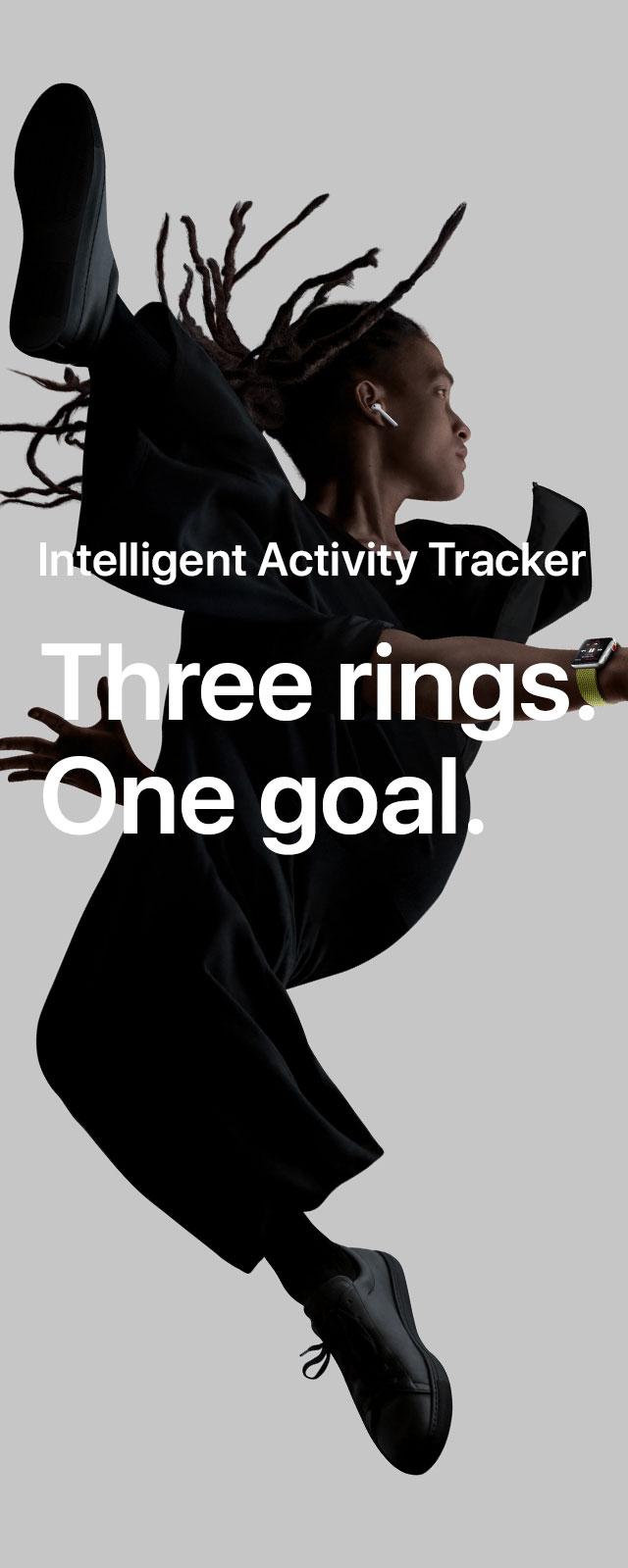 Intelligent activity tracker. Three rings. One goal.