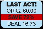 last act. original 60.00 save 72% deal 16.73