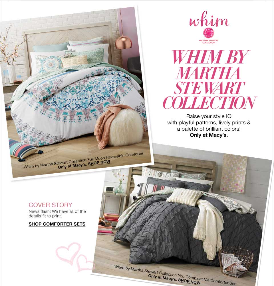 Whim Bedding Collection by Martha Stewart - Macy\'s