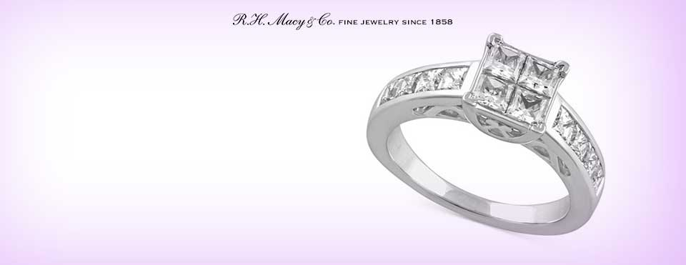 diamond carat - Macy Wedding Rings